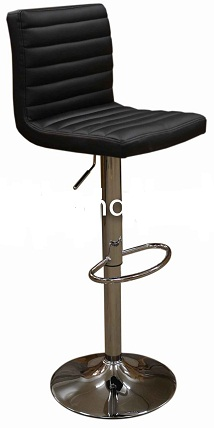 Serene Black Breakfast Kitchen Bar Stool - Height Adjustable