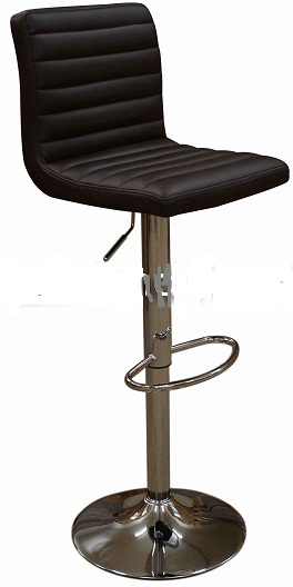 Serene Brown Kitchen Bar Stool - Padded Seat and Back