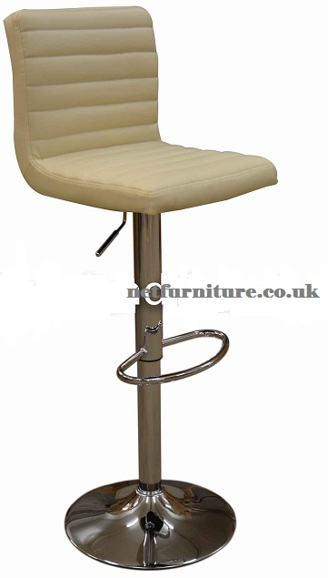 Serene Cream Breakfast Bar Stool - Padded Seat Height Adjustable