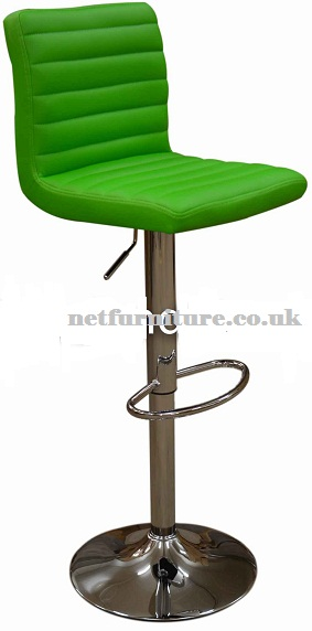 Serene Funky Modern Green Kitchen Bar Stool Height Adjustable