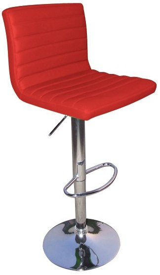 Serene Cool Red Kitchen Bar Stool Padded Seat and Back