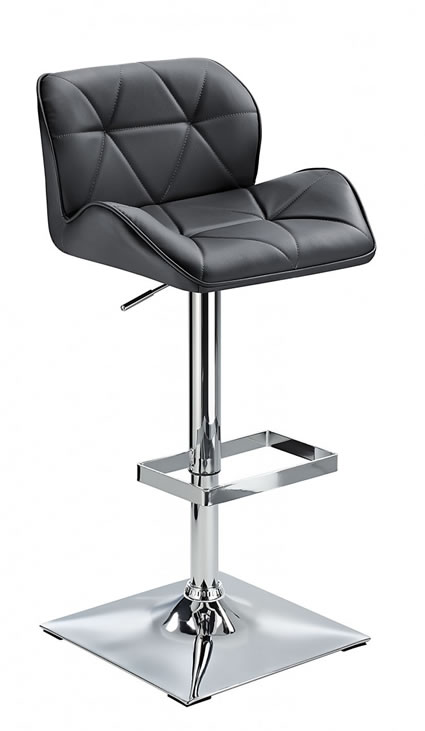 Virtuoso Height Adjustable Bar Stool Padded Seat And Back 360 Degree Swivel Seat