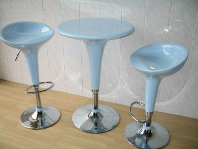 Baby Blue Bar Stool Set