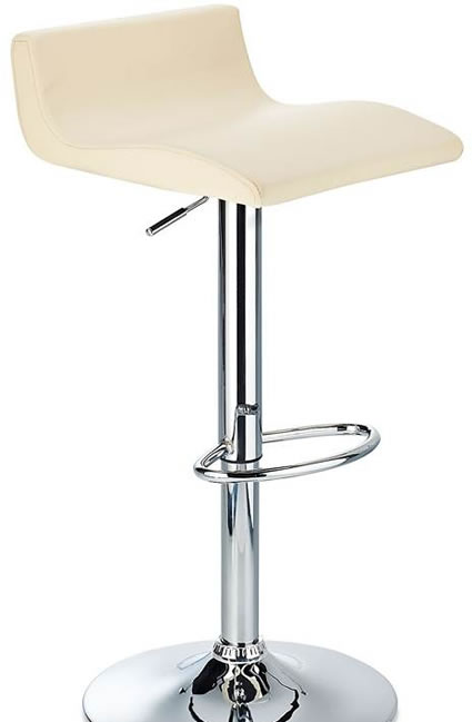 Cusio Bar Stool with Cream Adjustable Swivel Seat