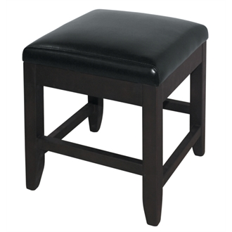 2 Barnaby Faux Leather Black Stool - Low