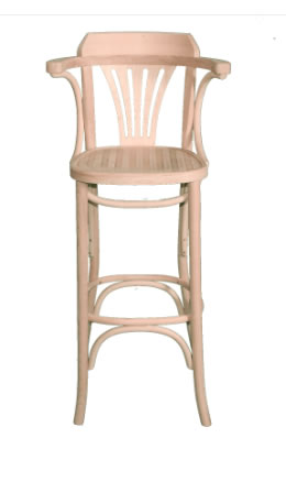 Beech Wood High Stool - Natural