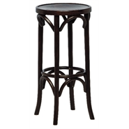 Beech Wood High Stool - Walnut