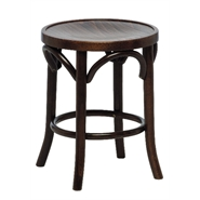 Beech Wood Low Stool - Walnut