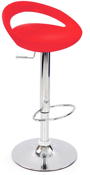 Nuovo Kitchen Bar Stool Red ABS Seat Height Adjustable