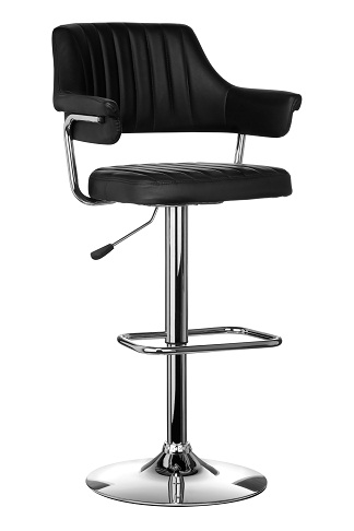 Helmy Retro Adjustable Bar Stool - Black