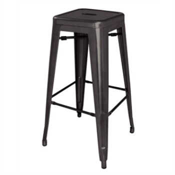 Nelia Steel Stool  - Black