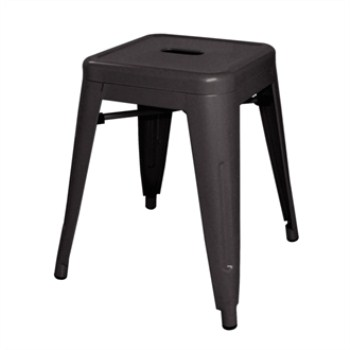 Hagrid Steel Low Stool  Black Steel Fully Assembled