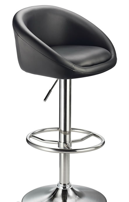 Baytam Adjustable Kitchen Bar Stool Black Tub Seat Height Adjustable