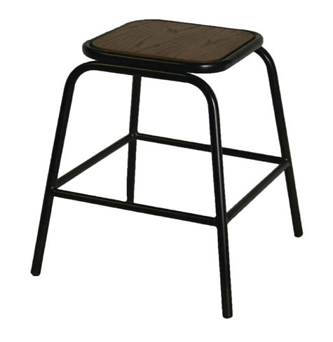 Calerio Urban Wood and Metal Lowstool Fully Assembled Price is Per Pair Industrial aged look style