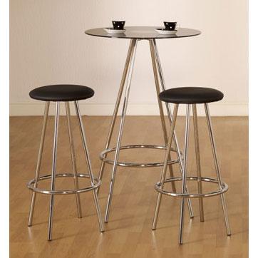 Beau Bravo Bar Table U0026 Stools   Glass