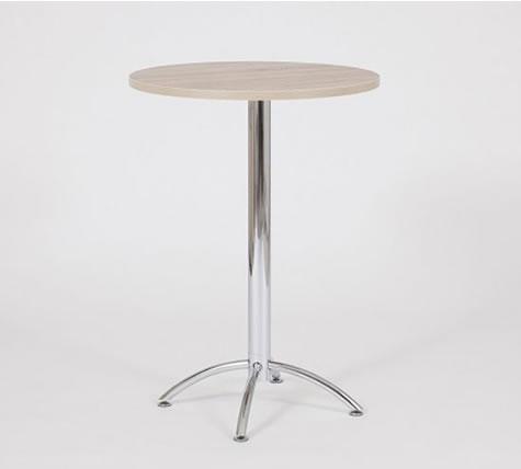 Bravo beech table tall bar poseur kitchen poseur with chrome stylish frame