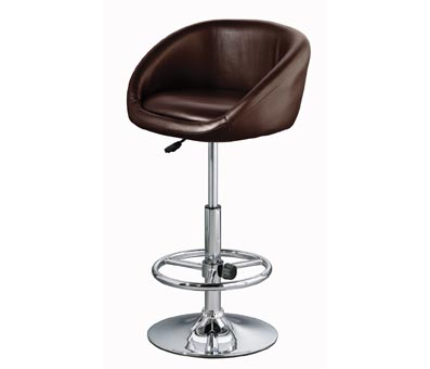 Marina Brown Padded Kitchen Breakfast Bar Stool Faux Swivel Stool Height Adjustable