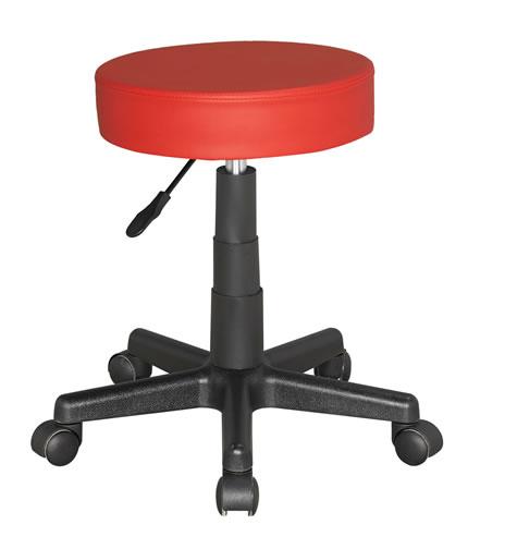 Suseny Therapist Bar Stool Height Adjustable low stool on wheels castors - red
