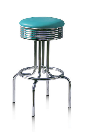 Florida Quality Retro Fifties Style Kitchen Breakfast Bar stool Swivel Seat Various Colours