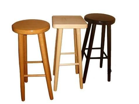 Carsoni wooden kitchen breakfast bar stool natural beech, oak, walnut, alder Fully Assembled 2 Sizes