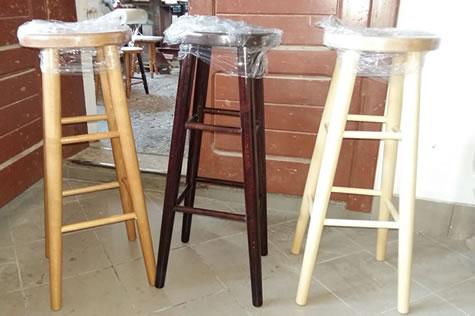 Carsoni high wooden kitchen breakfast bar stool natural beech, oak, walnut, alder Fully Assembled 80cm seat height