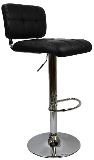 Viterbo Bar Stool - Black