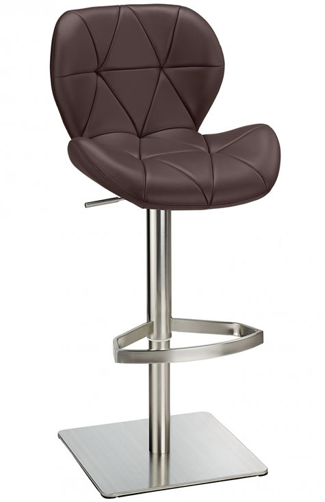 Prosany Brushed Steel Height Adjustable Kitchen Breakfast Bar Stool Various Colours