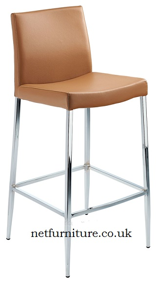 Carrock Fixed Height Bar Stool with polished chrome frame