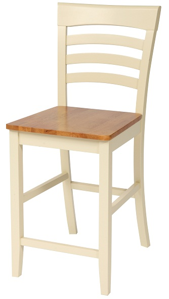 Country Cottage Bar Stool - Buttermilk Finish