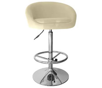 Cream Fabric Bar Stool