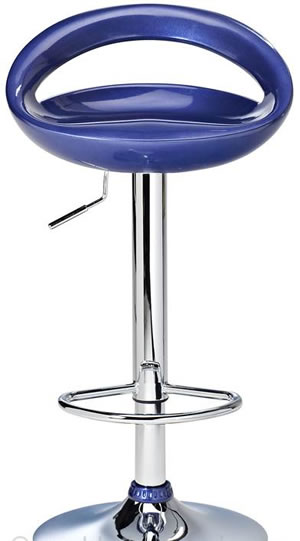 Halfy Half Moon Retro Kitchen Bar Stool - Blue Seat Height Adjustable