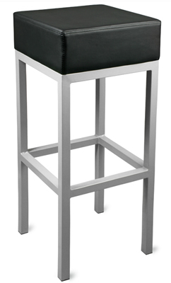 Square Bar Stool - Black