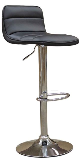Donau Faux Leather Bar Stool - Black