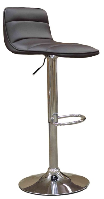 Donau Faux Leather Bar Stool - Brown