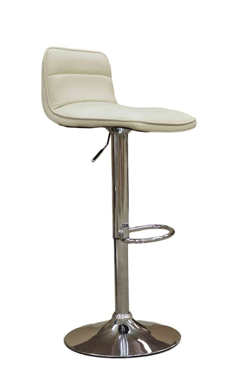 Donau Faux Leather Bar Stool - Cream