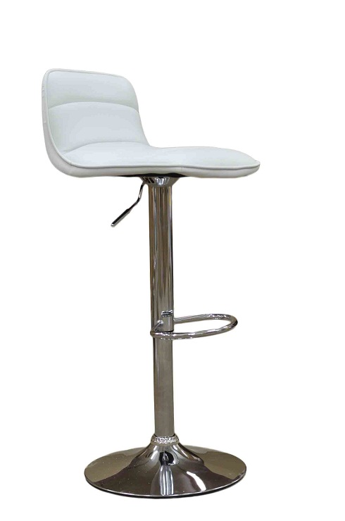 Donau Faux Leather Bar Stool - White
