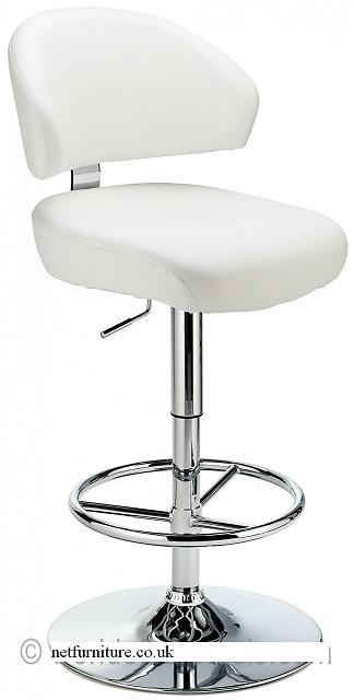 Monarch Bar Stool - Padded Faux Leather with Adjustable Swivel Seat - Black