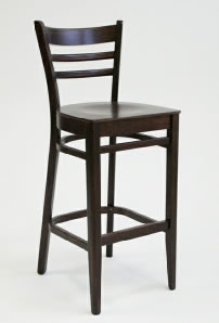 Dublin Breakfast Bar Stool Walnut or Raw frame option