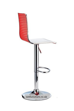 Gaston Bi-Colour Adjustable Acrylic Kitchen Bar Stool, With Swivel Seat.