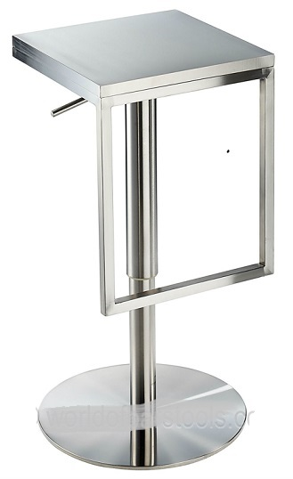 Minimalist Stainless Steel Bar Stool, Height Adjustable.