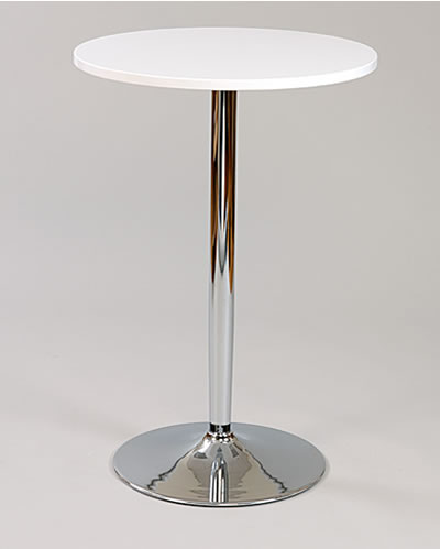 Earley Tall Poseur Shiny Chrome Table