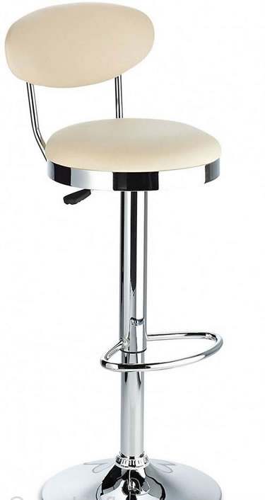 Zakley Adjustable Breakfast Kitchen Stool - Cream