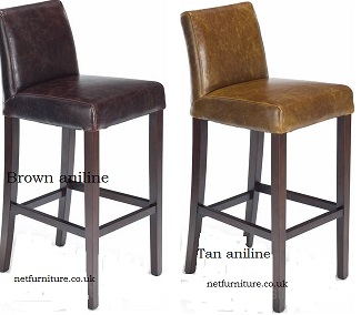 Stoolsonline Real Leather Bar Stools Bar Kitchen