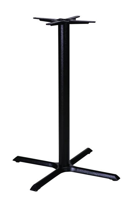 Elliot cruciform cast iron black or chrome table base  poseur height
