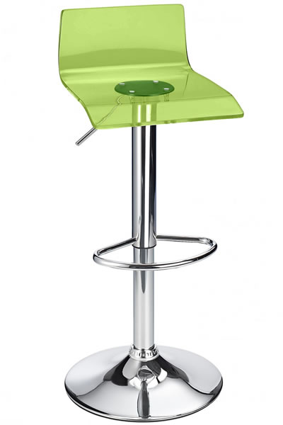 Langsley Funky Acrylic Adjustable Bar Stool - Green