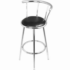 Swayvon Chrome Swivel Kitchen Breakfast Bar Stool