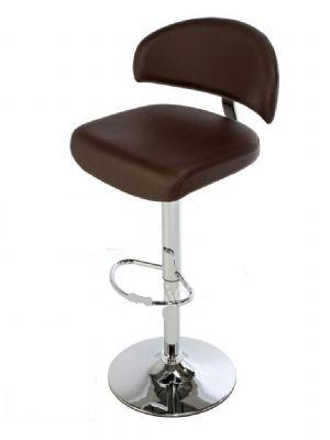 Spiral Adjustable Kitchen Bar Stool Large Padded Seat