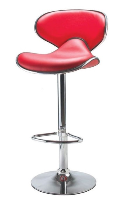 Planet Red Kitchen Breakfast Bar Stool Padded Seat Height Adjustable With Back