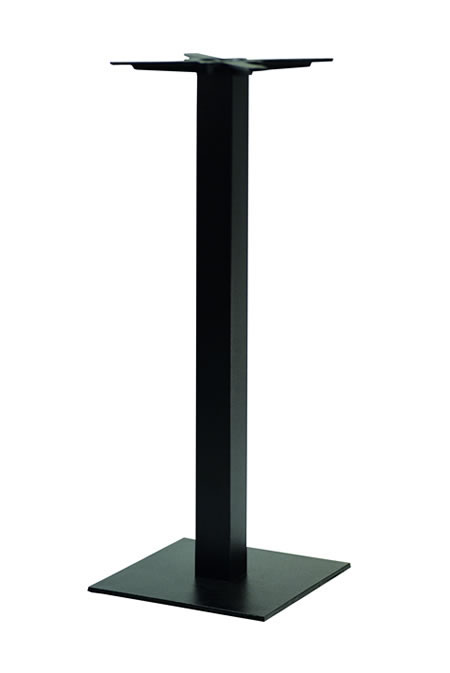 Gorzan Poseur Tall Bar Table Base Cast Iron Square Slimline Flat Base - Variety of Colours