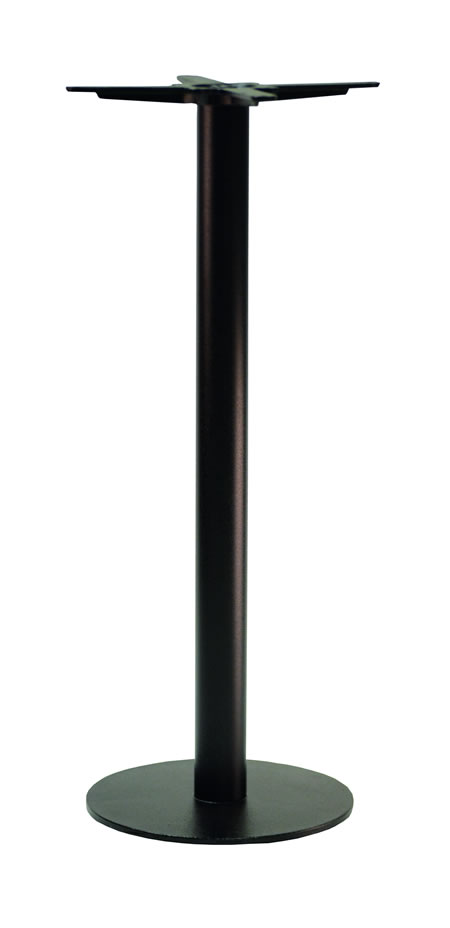 Gorzan Black Poseur Tall Bar Table Base Cast Iron Round Slimline Flat Base - Variety of Sizes and Colours